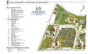 Mapa del Campus Central de la UAA